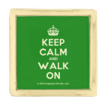 [Crown] keep calm and walk on  Lapel Pin