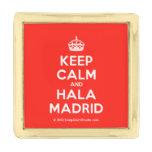 [Crown] keep calm and hala madrid  Lapel Pin