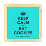 [Crown] keep calm and eat cookies  Lapel Pin