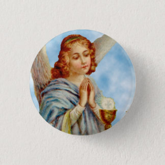 Lapel Pin: Angel Ponders Pinback Button