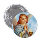 Lapel Pin: Angel Ponders Pinback Button