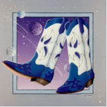 Lapel Pin, Broach - Electric Slide Cowboy Boots Cutout