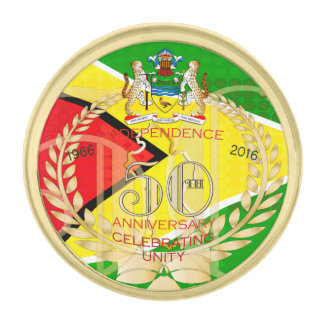 Lapel Pin Republic of Guyana, Happy 50th Independe