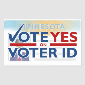 Lapel Sticker - Vote YES on Voter ID