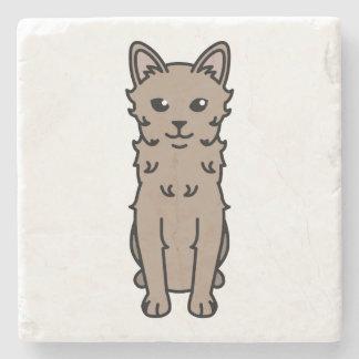 LaPerm Cat Cartoon Stone Coaster
