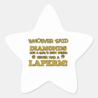 Laperm Cat designs Star Sticker