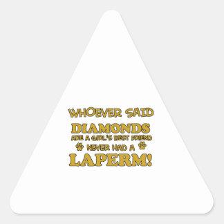Laperm Cat designs Triangle Sticker