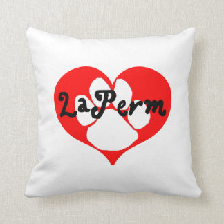 laperm paw heart throw pillow
