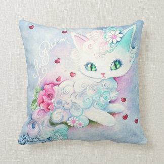 LaPerm Princess Kitty Love Pillow