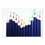 Lápices 2 del cumpleaños invitación 12,7 x 17,8 cm
