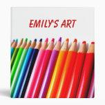Lápices coloreados arco iris