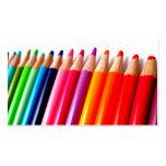 Lápices coloreados arco iris plantillas de tarjeta de negocio