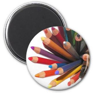 Lápices coloreados artistas del aceite imán redondo 5 cm