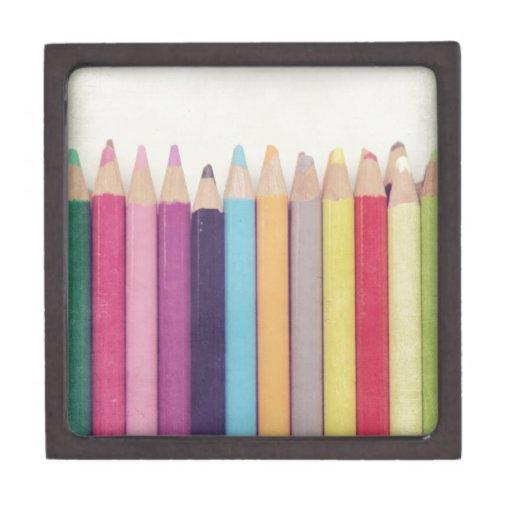 Lápices coloreados caja de joyas de calidad