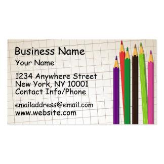Lápices coloreados de la tarjeta de visita
