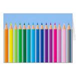 Lápices coloreados felicitación