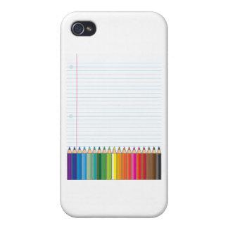 Lápices coloreados iPhone 4 funda