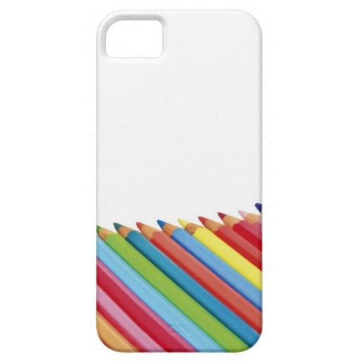 Lápices coloreados iPhone 5 Case-Mate fundas
