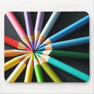 Lápices coloreados Mousepad