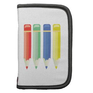 Lápices coloreados organizadores