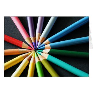 Lápices coloreados - tarjeta de felicitación