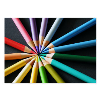 Lápices coloreados - tarjetas de visita
