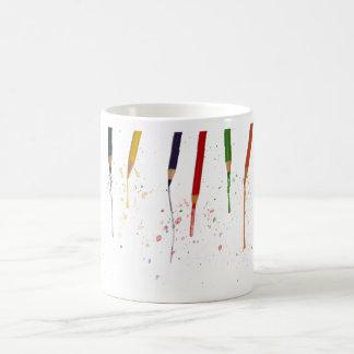 Lápices coloreados tazas
