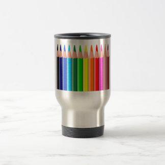Lápices coloreados taza de café