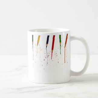 Lápices coloreados taza