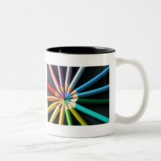 Lápices coloreados - taza