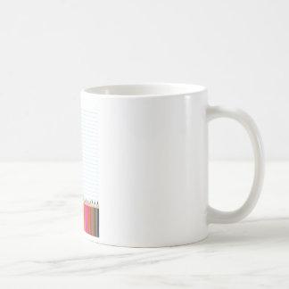 Lápices coloreados taza básica blanca