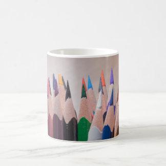 Lápices coloreados taza clásica
