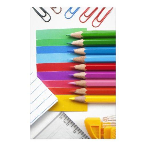 Lápices coloridos papelería