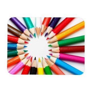 Lápices coloridos rectangle magnet