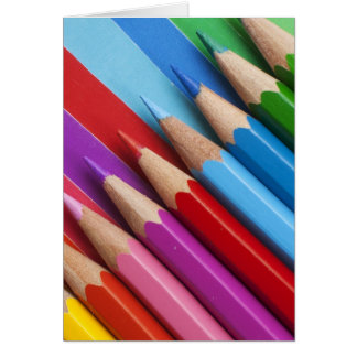 Lápices coloridos tarjeta de felicitación
