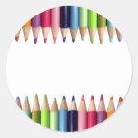 Lápices de Colores Pegatina Redonda