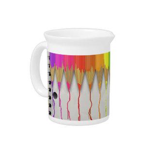 Lápices de fusión del arco iris jarrones