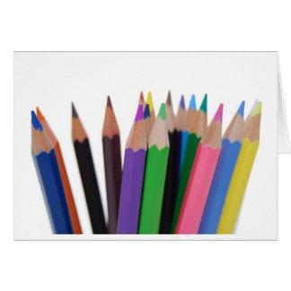 lápices de los colores felicitacion