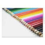 Lápices del color felicitacion