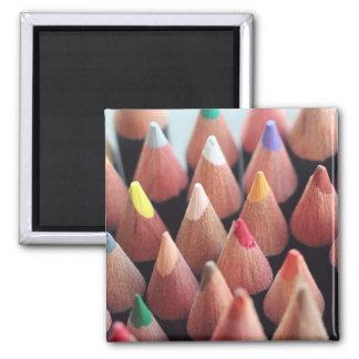 Lápices del color imán cuadrado