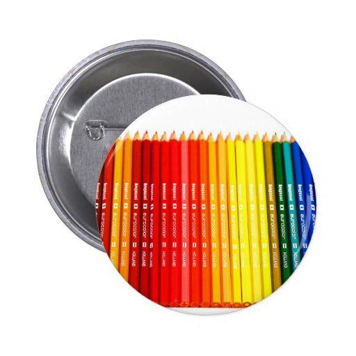 Lápices del color pin redondo 5 cm