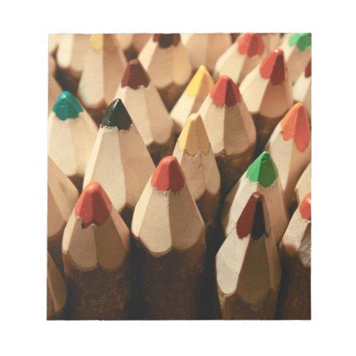 Lápices del colorante blocs de papel