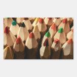 Lápices del colorante rectangular pegatinas