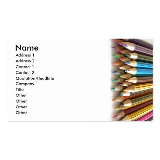 Lápices del colorante tarjetas de visita