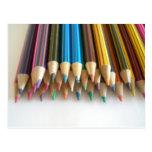 Lápices del colorante tarjeta postal