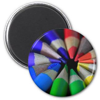 Lápices del multicolor imán redondo 5 cm