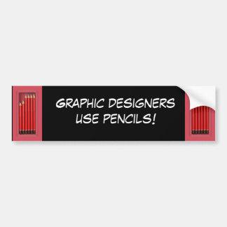 Lápices del uso de los diseñadores gráficos pegatina para auto