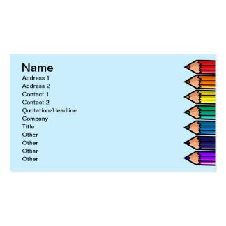 Lápices lindos del color tarjetas de visita