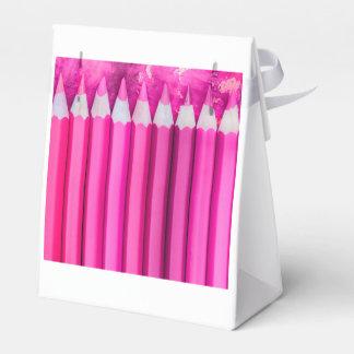 lápices rosados cajas para detalles de boda