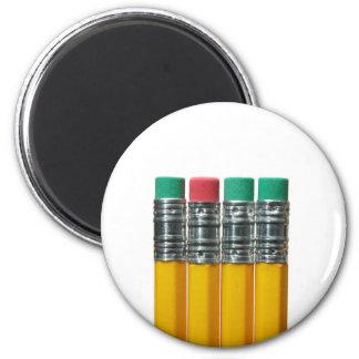 Lápices sobre blanco imán redondo 5 cm